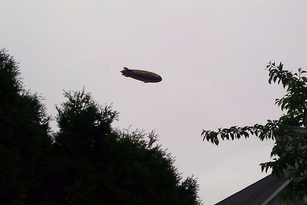 Blimp from our yard