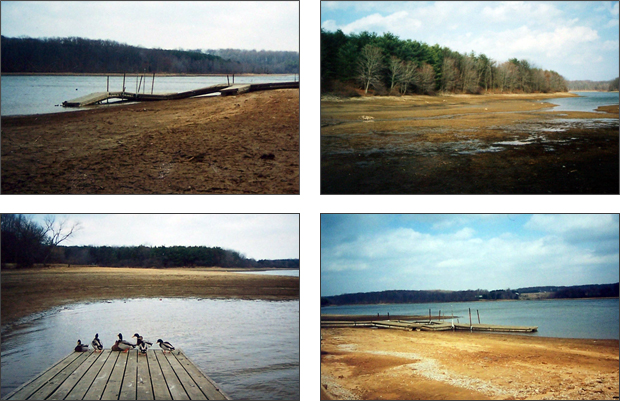 A depleted Piney Run Lake circa 1999. Photos courtesy of Dot and Merrill Sumey. - See more at: http://sykesvilleonline.com/about-21784/188-save-the-lake-ten-years-later#sthash.4ySu6jzb.dpuf